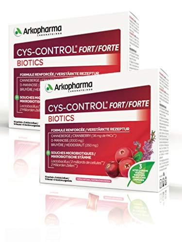 CYS-CONTROL FORT - BIOTICS Confort Urinaire - 10 sachets + 5 Sticks - Lot de 2 Boites