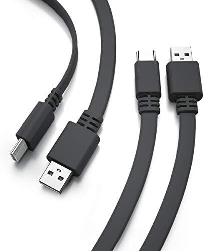 Cable Cargador USB A a USB-C 5M 2-Pack,Cable de alimentación Carga largo...