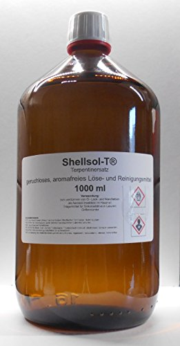 1000 ml Shellsol-T®,Terpentinersatz, geruchloses, aromafreies Lösemittel und Pinselreiniger