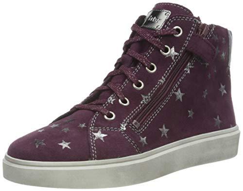 Richter Kinderschuhe Flora 3762-8121 Sneaker, 7500blackberry/silver, 34 EU