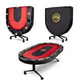 Premium Folding Poker Table Luxurious & Long Lasting Casino...