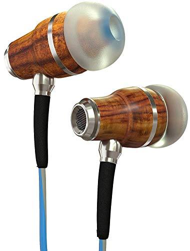 Symphonized NRG 3.0 Auriculares de Mader, con Aislamiento de Ruido, con micrófono y Control de Volumen (Azúl y Gris Brumoso)