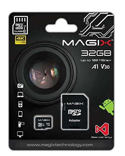 Magix Micro SD Card 4K Series Class10 V30 + SD Adapter UP to 100MB/s (32GB)