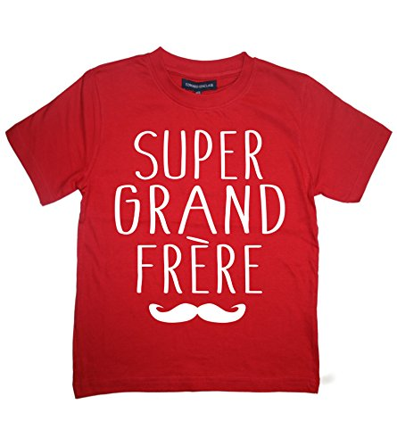 1-2 Ans Tee Shirt Rouge 'Super Grand Frère'