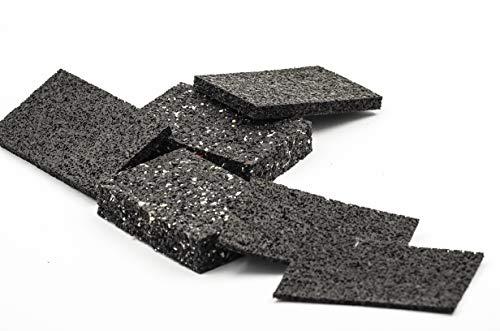 24x Terrassenpads [8mm] 60x90 mm in unterschiedlichen Stärken aus Gummigranulat - verwendbar als Poolunterlage, Bautenschutzmatte - Gummimatte Pads als Unterlegplatten (Gummiunterlage)