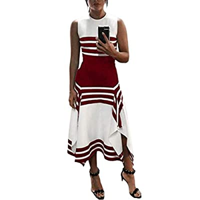 W-Fight Women Plus Size Summer Sleeveless Evening Party Maxi Long Dress Office OL Clubwear