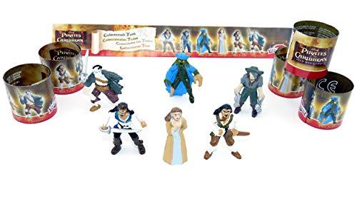 6 Figuren aus dem Film Fluch der Karibik - Piraten (Komplettset)
