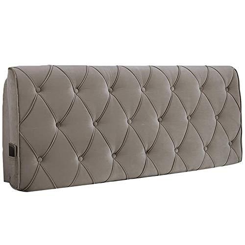 Kopfteil Rückenlehnen Bett Kissen Soft Pack Rückenlehne Entlasten Sie die Ermüdung der Taille Waschbar, Mit / ohne Kopfteil Standard, 4 Farben, 5 Größen ( Color : A-Khaki , Size : 150x60x12cm )