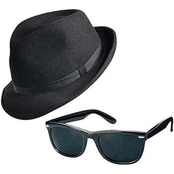 1980s Gangster Blues Brother Fancy Dress Set Hat /& Glasses /& Tie Fancy