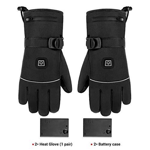 Mdsfe Winter Motorradhandschuhe wasserdichte Heizung Motorradhandschuhe Handschuhe mit Batterie Reiten Ski - A2