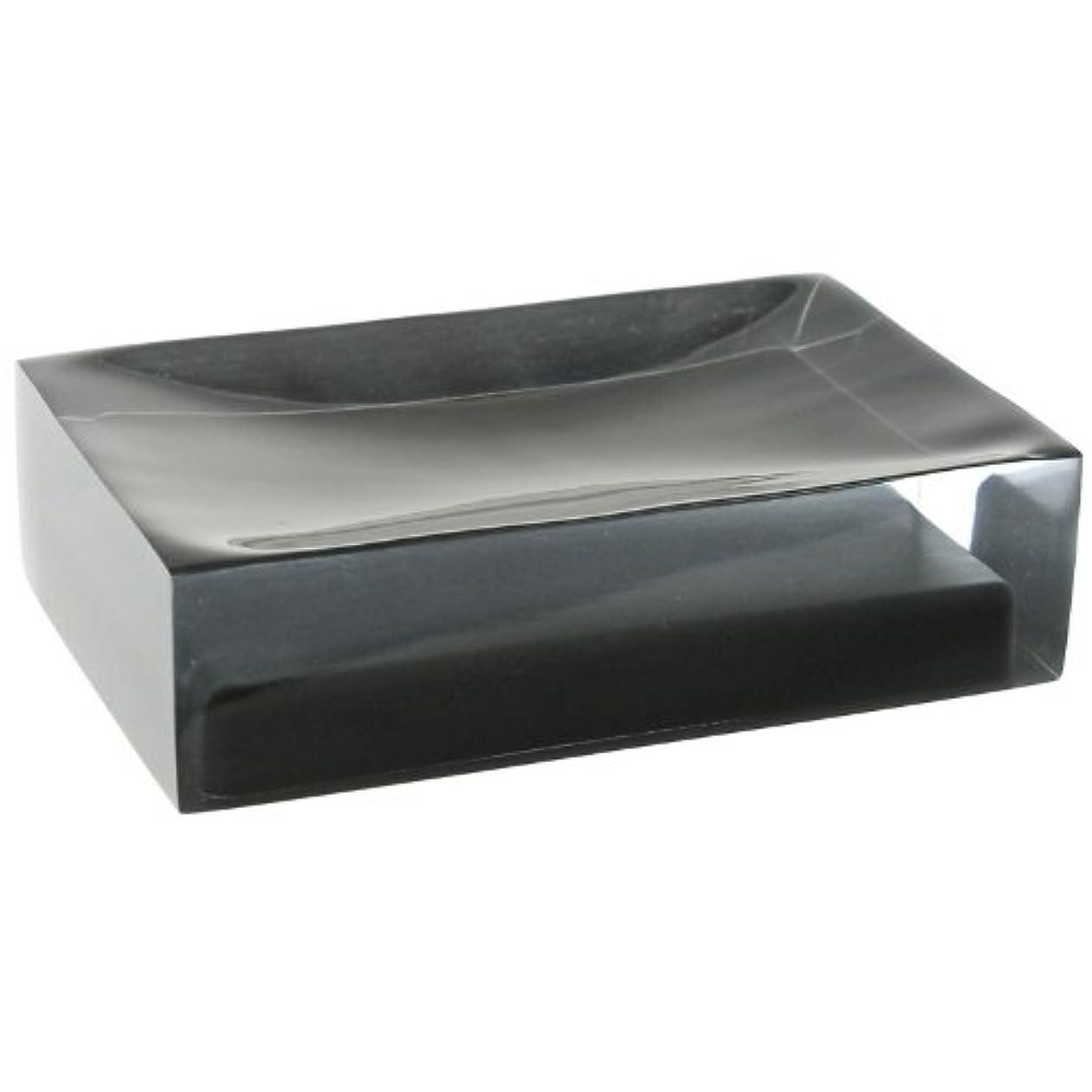 性格はっきりと経由で(Black) - Gedy Gedy RA11-14 Rainbow Soap Holder, 0.8cm L x 11cm W, Black