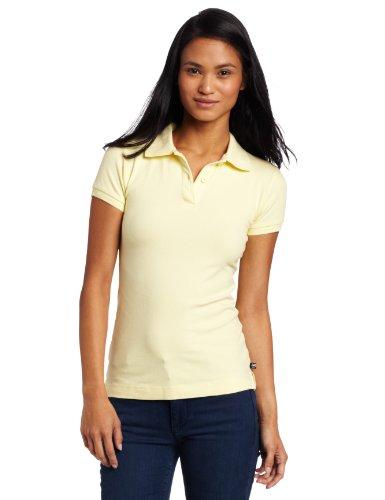 Lee Uniforms Juniors Stretch Pique Polo, Yellow, Large