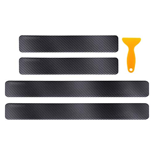 CDEFG 4PCS Car Door Sill Protector Door Sill Scuff Plates for 2018 2019 2020 Accord, Door Entry Guard Cover Door Sill Protection Stainless Steel Scratch Resistance