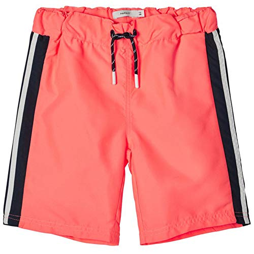 NAME IT Jungen NKMZARTINS Shorts Badehose, Neon Coral, 152