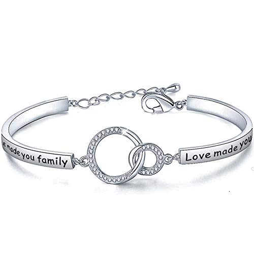 WUSUANED Mother in Law Gift Marriage Made You Family Love Made You My Mom Bracelet Gift for Stepmom