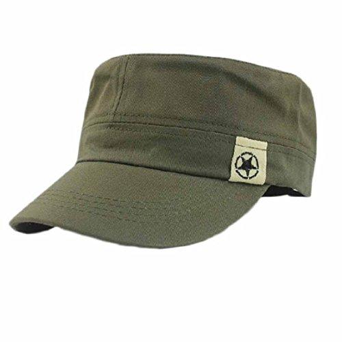 tongshi Moda Unisex Tetto Piano Cappello Militare Cadetto Patrol Cappello Australiano Baseball Field cap (Army Green)