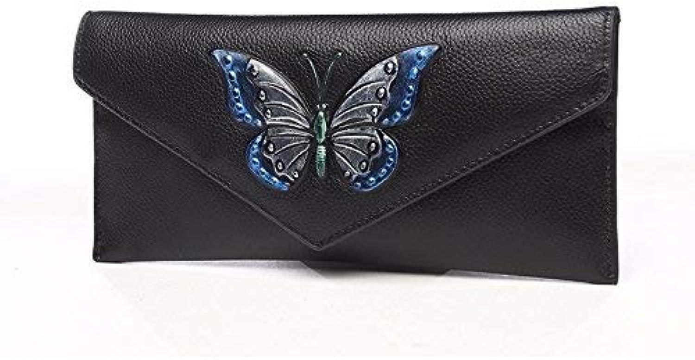 Ladies Handbag Lady's Wallet (20  10Cm) (color   Silver blueee A)