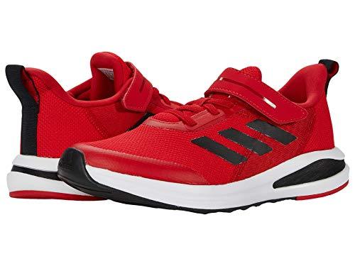 adidas boys Fortarun El (Little Kid/Big Kid) tennis shoes, Scarlet Red/Core Black/Footwear White, 11 Little Kid US