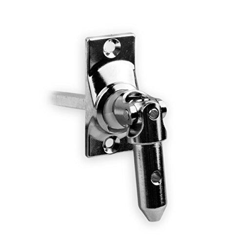 DIWARO.® | Rolladen Gelenklager G009, 45 Grad Umlenkung, Grundplatte 22 x 52 mm mit 2 Befestigungslöcher, Kurbelzapfen Anschluss 11,9 mm, Antrieb zum Rolladengetriebe 6 mm Vierkant