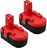 POWTREE 18V Replacement Battery Compatible with Bosch BAT026 BAT025 BAT180 BAT181 BAT160 BAT189 2607335265 2607335266 2607335270 (2 Packs 3500mah)