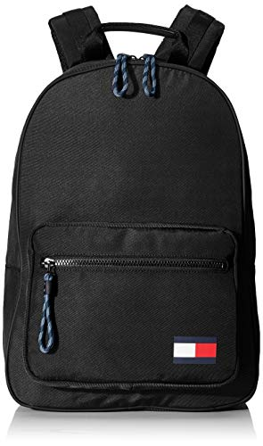 Tommy Hilfiger Herren Tommy Backpack Taschen, Schwarz, One Size