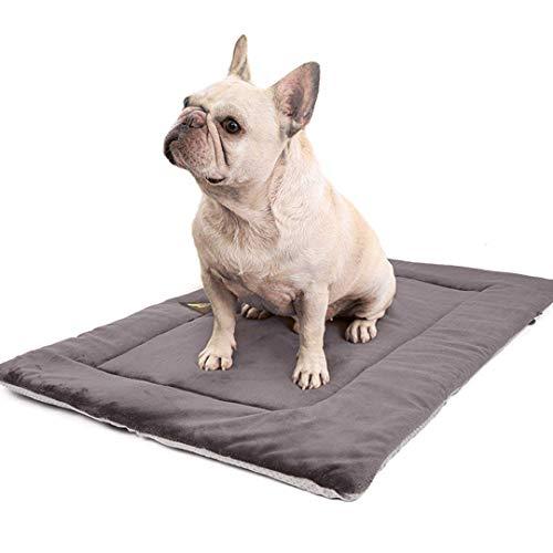FayTun - Cojín térmico para cama de perro, lavable, apto para secadora y antideslizante, para mascotas, suave cama de perrera, cojín mullido para mascotas (M)