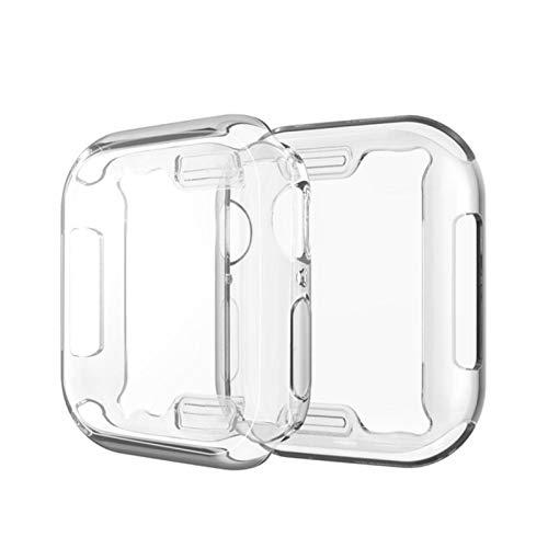 Funda Protectora de Silicona para Apple Watch Series 6 5 4 3 2 1 SE 38 40 42 44 mm 40 mm 42 mm 38 mm 44 mm Protector de Pantalla Transparente, 44 mm