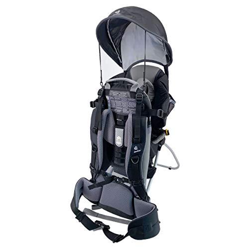 Deuter Kid Comfort I - Mochila portabebés con parasol, color negro