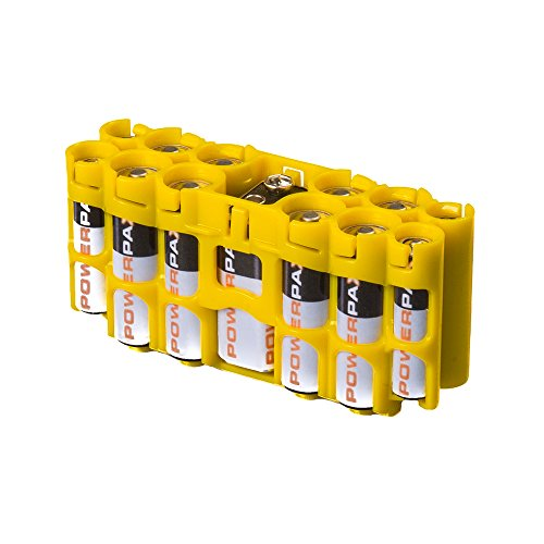 Storacell by Powerpax A9 Multi-Pack Battery Caddy, Yellow
