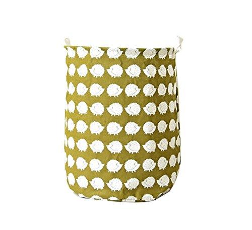 youjia plegable cesta para la ropa sucia (  plegable para la colada cubo   cuarto de baño Dormitorio Soporte De Almacenamiento Organizador Caja Bolsa de Arpillera, tela, Hedgehog, 35*45cm