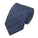 Jason&Vogue Designer Krawatte inmitternachtsblau mit farbigen Karos