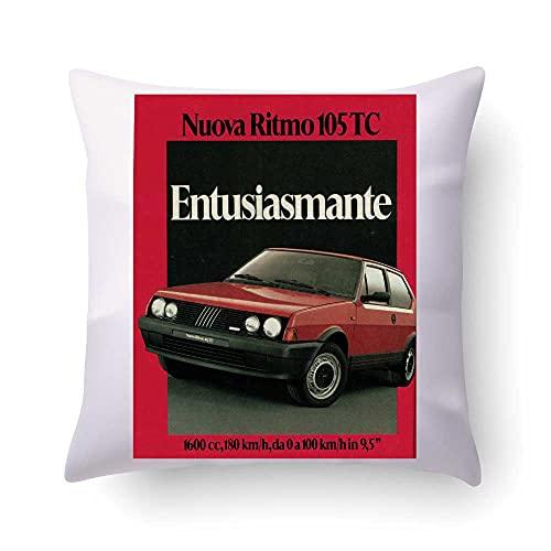 La Ruotante Funda de cojín con diseño de ritmo 105 TC para coche de época, vintage, idea de regalo – Solo funda de almohada