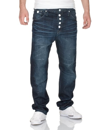 Outfitters Nation Herren Denim Hose by Outfitters Jeans H/M 2013 Star MOD 3446 blau D.G