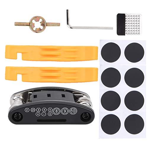 SALUTUY Kit de reparación de neumáticos de Bicicleta, Bolsa de Herramientas portátil Herramienta de Mantenimiento de Palanca de neumáticos Multifuncional para Problemas de conducción para la