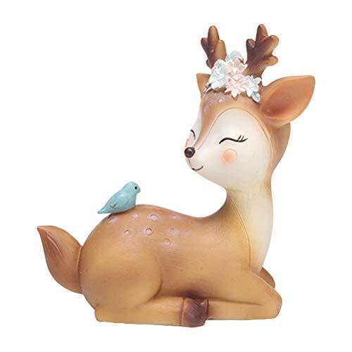 VOSAREA Rentier Figur Elch Hirsch Figur Weihnachten Tierfigur Dekofigur Weihnachtsfigur Xmas Party Deko Tischdeko Winterdeko Weihnachtsdeko (Meditinenmuster)