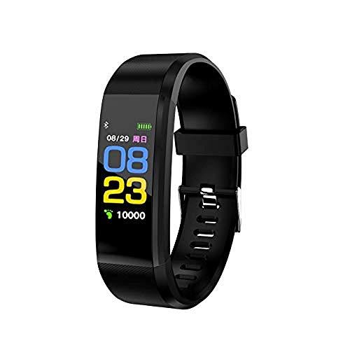 Pantalla a Color Pulsera Inteligente Deportes Podómetro Reloj Fitness Correr Caminar Tracker Frecuencia Cardíaca Podómetro Impermeable Pulsera Inteligente