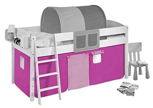 Lilokids Vorhang Rosa - für Hochbett, Spielbett und Etagenbett