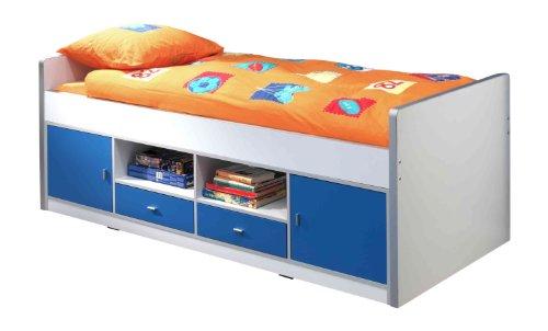 Vipack bokb9007Letto Bonny, Circa 207x 77x 98cm, Superficie 90x 200cm, 07, Bianco/Blu