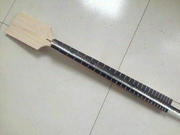 Yinfente Bajo cuello de guitarra 22 trastes 30 pulgadas cuello de arce canadiense con palisandro de palisandro con incrustaciones de bloque cabeza de paleta en blanco