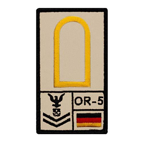 Café Viereck ® Obermaat Marine B&eswehr Rank Patch mit Dienstgrad - Gestickt mit Klett – 9,8 cm x 5,6 cm