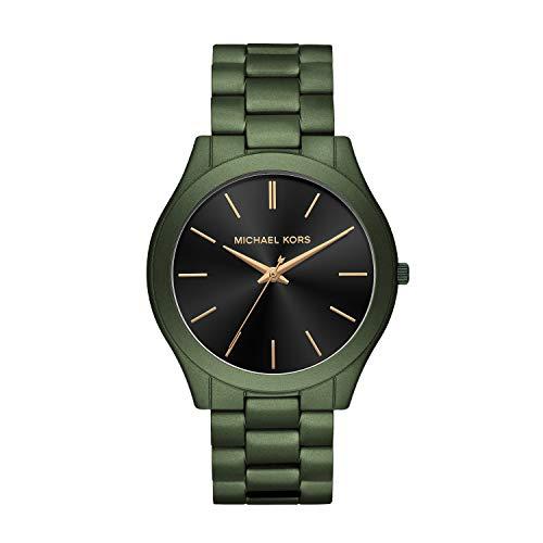 Michael Kors Herren Analog Quarz Uhr mit Edelstahl Armband MK8715
