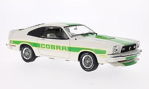 nuevo listado Ford Mustang II Cobra II, blanco verde, 1978, 1978, 1978, Modelo de Auto, modello completo, verdelight 1 18  buen precio