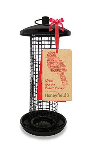 Honeyfields Hanging Wild Bird Peanut feeder, Urban Garden Design in Black &...
