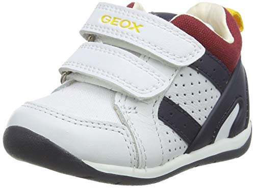 Geox Jungen B Each Boy B Sneaker, Weiß (White/Navy C0899), 19 EU