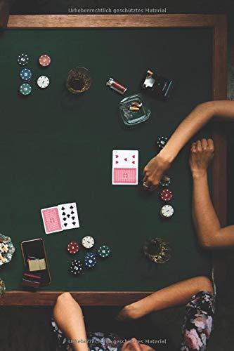 Notizbuch: zum Pokern ♦ über 100 Seiten Dot Grid Punkteraster für Strategien, Planer oder Notizen für alle Pokerspieler ♦ Jounal 6x9 Format ♦ Motiv: Pokertisch