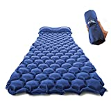 ZOOOBELIVES Ultralight Sleeping Pad with Built-in Pillow, Inflatable Camping Mattress for Backpacking,...