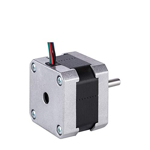 QINGRUI Komponenten 3pcs Stepper Motor 42mm 15Ncm 1A 2 Phase (17CS01A-100) 4-Kabel for die 3D-Drucker CNC Motor dauerhaft (Color : 17CS01Ax3pcs)