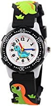 Kids Watch for Boys Girls, Toddler Watch Digital Analog Wrist Waterproof Watches with 3D Cute Cartoon Silicone Band, for 3-10 Years Old Childrens (A Dinosaur Black)