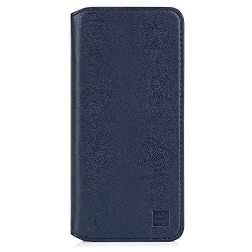 32nd Klassische Series 2.0 - Lederhülle Hülle Cover für Samsung Galaxy S20 FE 5G (Fan Edition), Echtleder Hülle Entwurf gemacht Mit Kartensteckplatz, Magnetisch & Standfuß - Marineblau