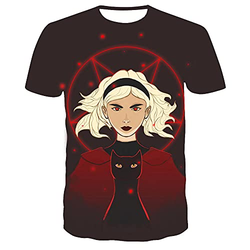 T-fashion shop Caliente en Europa y América,Tendencia 3D Imprimir T-Shirt Camiseta Redonda de Verano de Verano-B_Metro